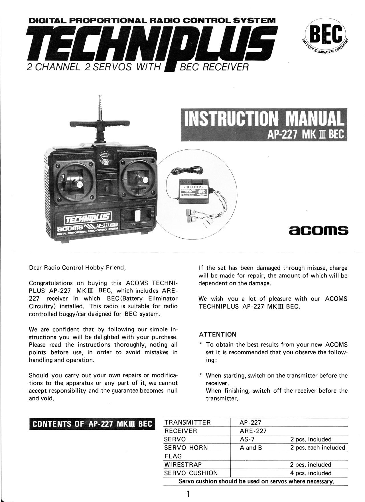 Acoms Ap227 Mk3 Manual Bec Version Here Vintage Tamiya Battery Eliminator Circuitry Rc Dictionary Post 6936 1261709270 Thumb