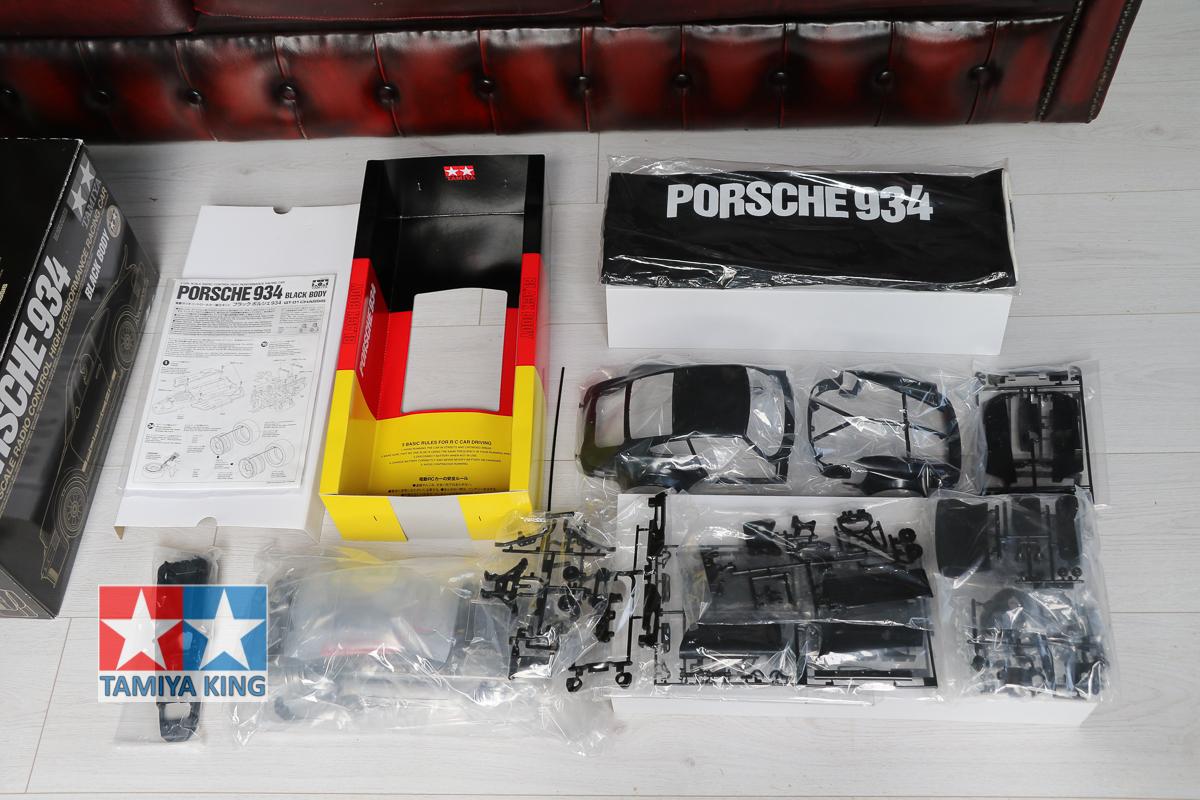 Tamiya 84057 Black Porsche 934 Chassis Kit NIB 911 Turbo