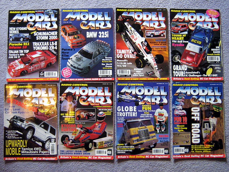 Vintage Radio Control Model Cars Magazines Tamiya Rc Radio