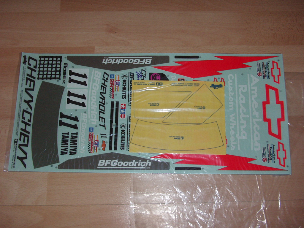 Original vintage Chevy S10 body shell and decals - Tamiya RC