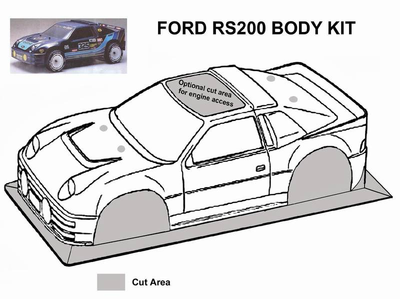 KYOSHO FORD RS200 BODY / DECAL KIT FD-34 FD-35