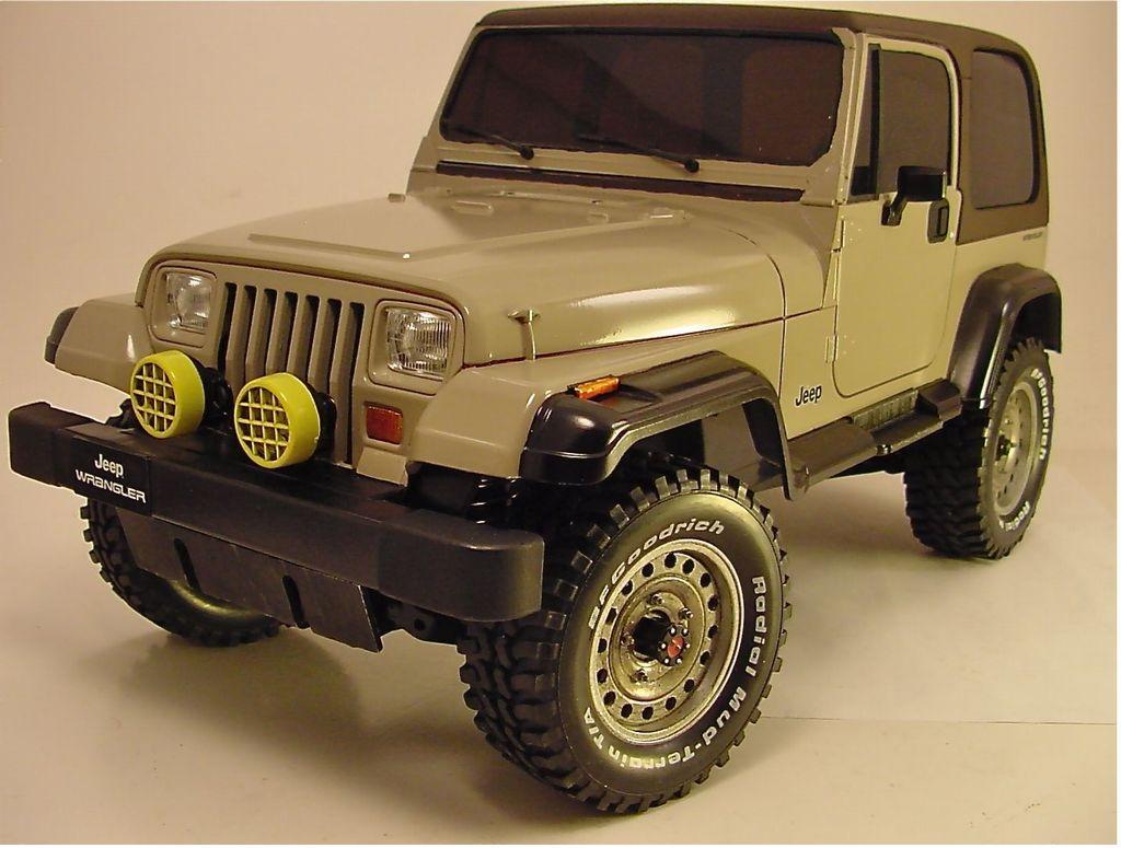 84071: Jeep Wrangler from Wyoming showroom, Tan Jeep Wrangler CC01 - Tamiya RC & Radio Control Cars