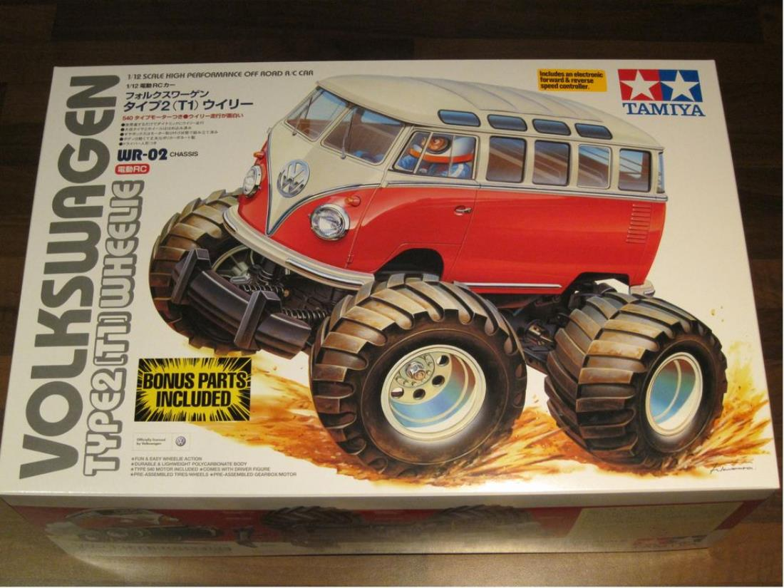 58512 volkswagen type 2 wheelie from ww nut showroom for 2 box auto con stanza bonus