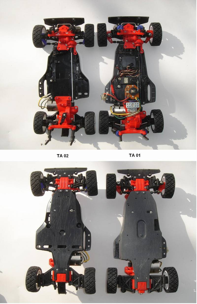 Car Suspension Parts >> 99999: Misc. from Bluefoot showroom, TA01 vs TA02 - How to ...