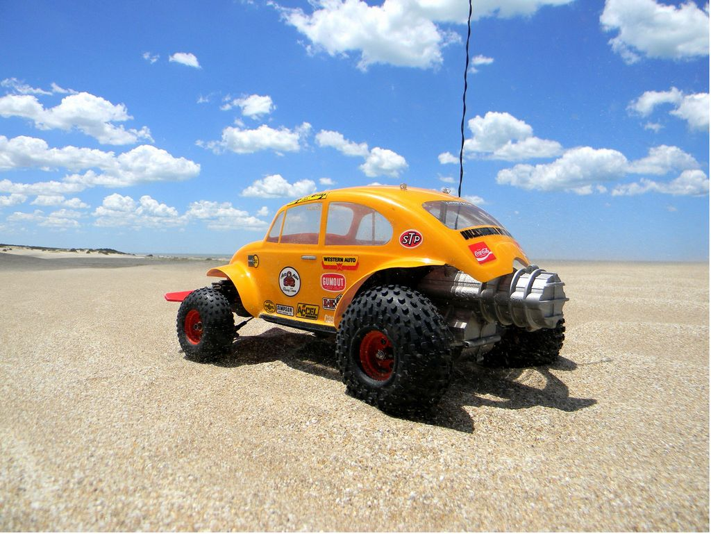 Vintage Vw Parts >> 99998: Kyosho from BeetleOne showroom, Kyosho Volkswagen Baja Bug - First run - Tamiya RC ...
