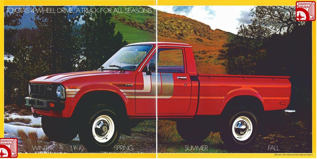 58397  Toyota Hilux High Lift From Mongoose1983 Showroom  Sales Brochure For The 1979 Toyota Sr