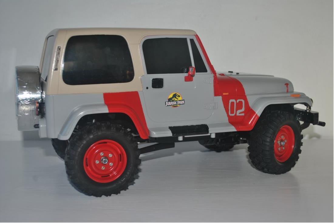 84071 Jeep Wrangler From Spzero Showroom Jurassic Park 02 Film