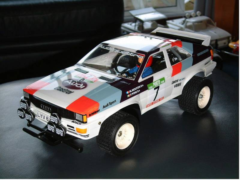 Audi Quattro Rally >> Tamiya Audi Quattro Rally, Vintage Tamiya Radio Control Cars through to Modern Tamiya R/C - Audi ...