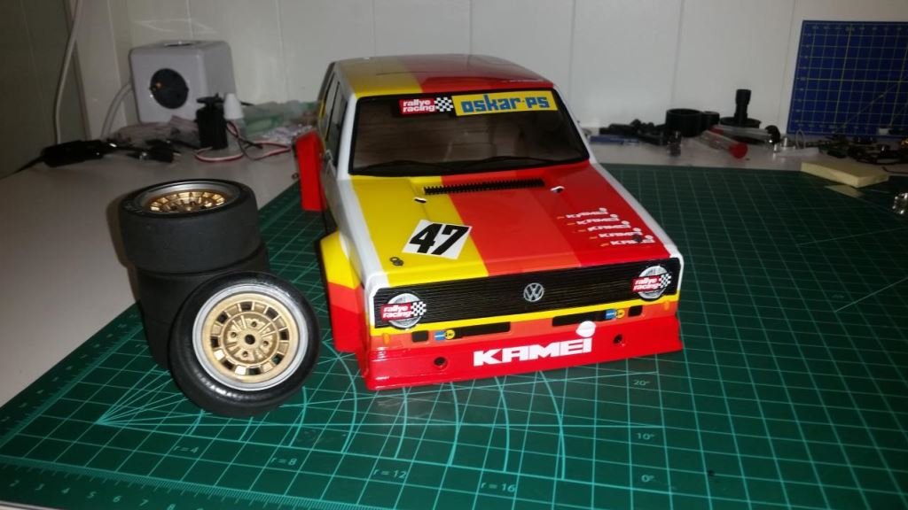 84316: Volkswagen Golf Mk.1 Grp.2 from Scanox showroom, Paint job and stickers ready - Tamiya RC ...