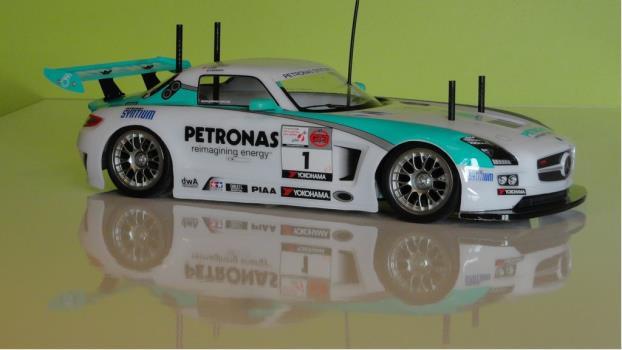 Tamiya 58554 1//10 RC TT01 Type-E Car Petronas Mercedes-Benz SLS AMG GT3 w//ESC
