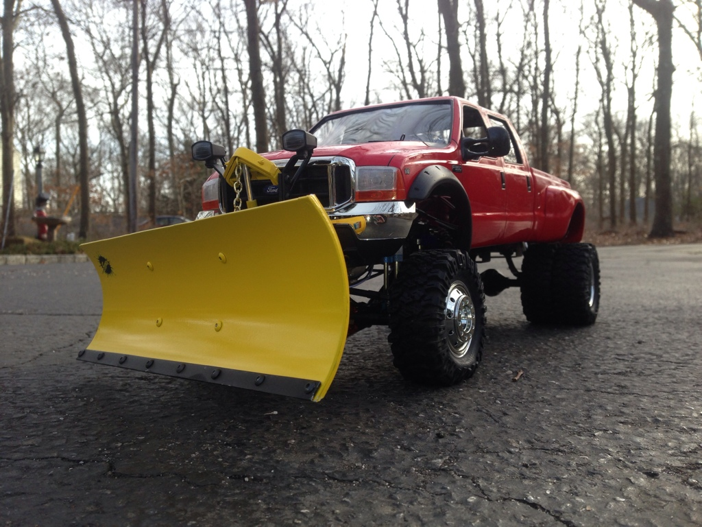 Rc Snow Plow Truck >> 58372: Ford F350 High Lift from IhaveaBruiser showroom, Custom F350 Dually plow truck - Tamiya ...